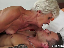 cock-gilf-gorgeous-old and young-woman
