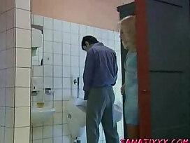 german-mature-older woman-public-toilet